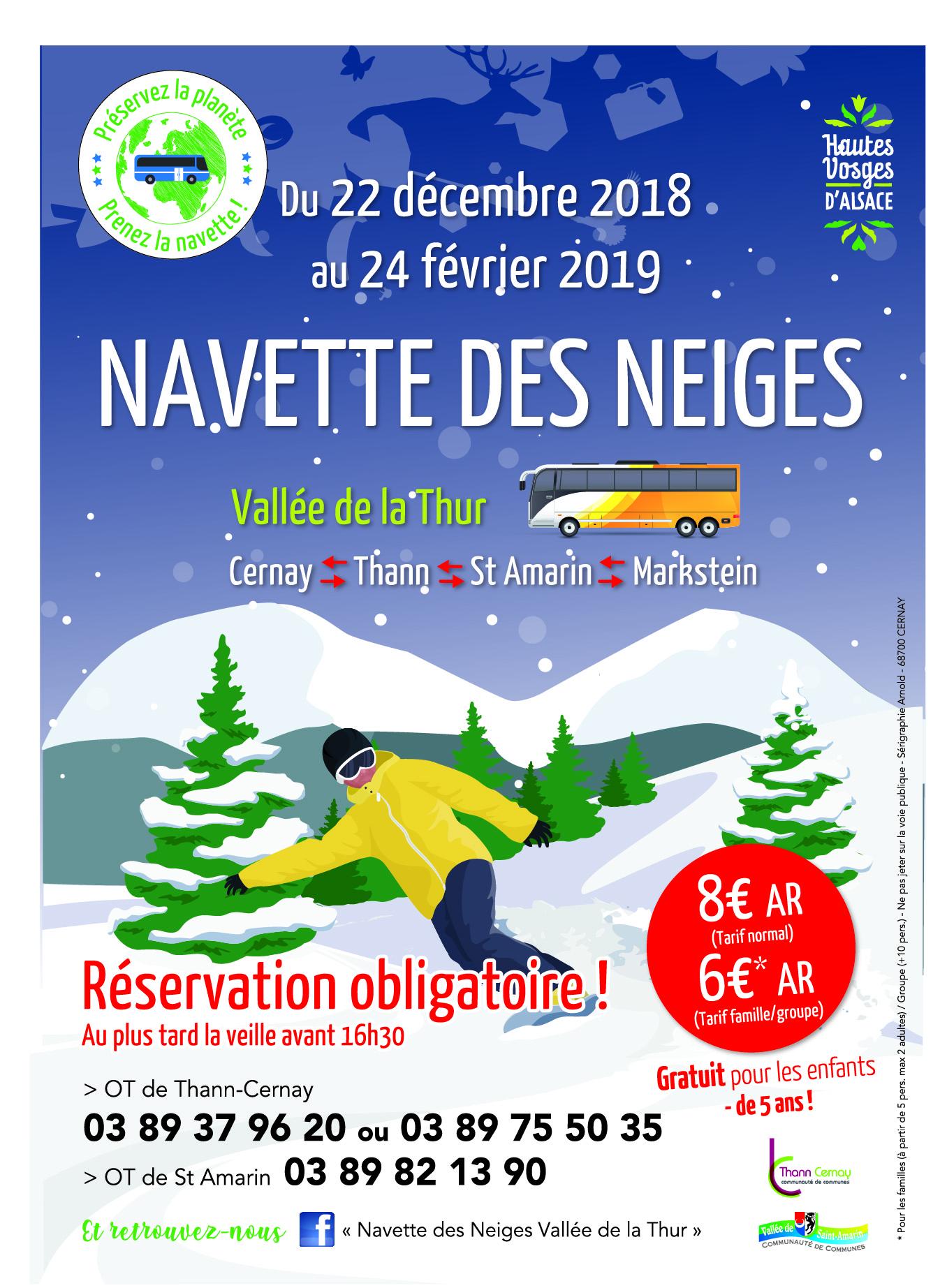 La navette des neiges de cernay au markstein ville site officiel de la ville de - Office de tourisme de cernay ...
